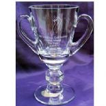 Personalised Glass Trophy Cup, ref LC01